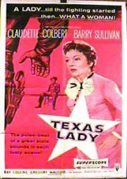 Random Movie Pick - Texas Lady 1955 Poster