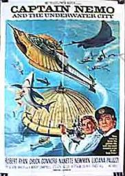 Random Movie Pick - Captain Nemo and the Underwater City 1969 Poster
