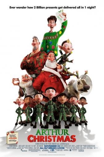 Random Movie Pick - Arthur Christmas 2011 Poster