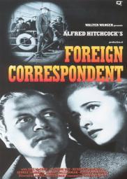 Random Movie Pick - Foreign Correspondent 1940 Poster