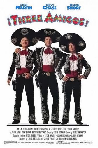Random Movie Pick - ¡Three Amigos! 1986 Poster
